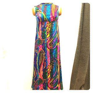 EUC Vintage 60's Groovy Maxi Long Dress